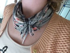 My first DIY creation from an old t-shirt - t-shirt necklace