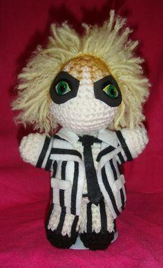 Beetlejuice Tim Burton Michael Keaton AmigurumiI Crochet dol