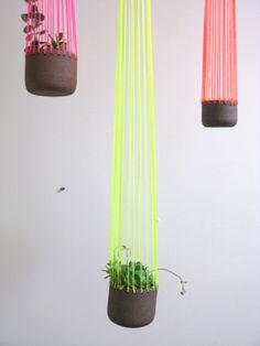 small neon  planters