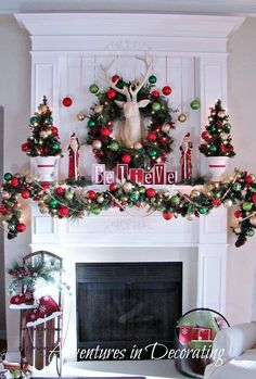 343 best christmas mantels images christmas mantles merry rh pinterest com