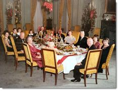 President Dwight Eisenhower Family Christmas-dinner-state-dining-room-1960