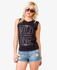 Wild One Muscle Tee   FOREVER21 - 2018637726