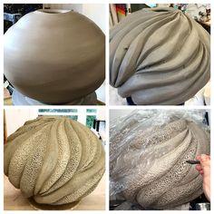 #process shots! #ceramics #pottery #artistsoninstagram #potter #clay #ceramicartist #howicreate #finecraft #coral #coastaldecor #moderndesign #handcrafted #handmade #oneofakindart