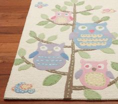 Nice The Hayley Rug Features Adorable Bright Eyed Owls.   From @Pottery Barn  Kids. Baby Girl OwlBaby ...