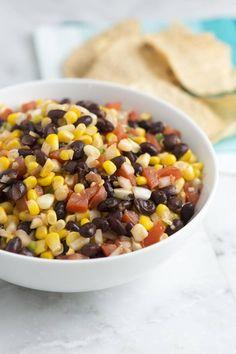 Smoky Black Bean and Corn Salad Recipe from www.inspiredtaste.net #recipe