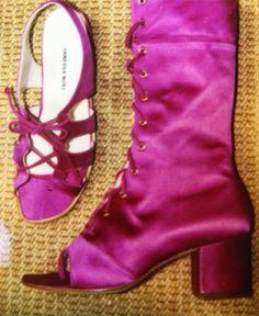 Vintage Vanessa Noel 1996 #fashion #cfda #glamour #shoes #designer #style #hotpink #satin #fun #love #vintage #americandesigner #shoesforwomen #luxury #couture #trend #now #design