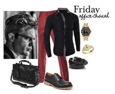 """""""Set #1559 - Mason's Friday"""" by the-walking-doctor ❤ liked on Polyvore featuring TheLees, Valentino, BOSS Black, Dean, Rolex, men's fashion and menswear"""
