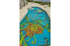 If I ever have a below ground pool I would totally paint the bottom before filling it