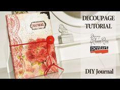 Back to school DIY notebooks youtube girls romania - decoupage tutorial - YouTube