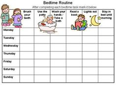 Bedtime Routine Chart to Solve Sleep Issues - Reward Charts 4 Kids