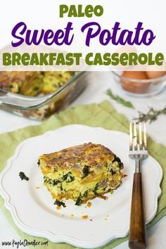 Gluten Free Paleo Sweet Potato Breakfast Casserole | LOW CARB OPTION