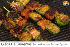 Giada De Laurentiis' Bacon Bourbon Brussels Sprouts http://www.today.com/id/53614877/ns/today-today_food/#.Uo5GRsSshcY