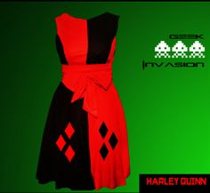 Hey, I found this really awesome Etsy listing at https://www.etsy.com/listing/174479813/harley-quinn-dress-cosplay-harley-quinn