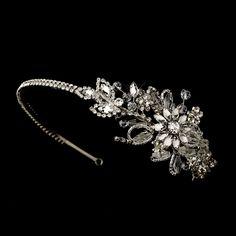 Vintage Inspired Swarovski Side Bridal Headpiece Headband