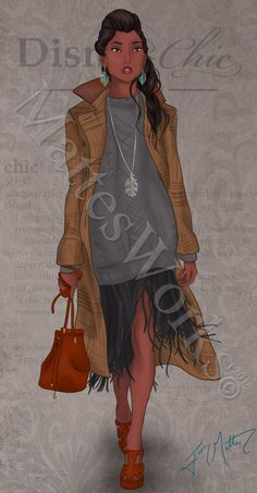Pocahontas is the second Disney lady added to the Dapper collection! I wanted her be feminine and beautiful, but still powerful. She's probably one of the strongest, independent women in the world . Moda Disney, Arte Disney, Disney Fan Art, Disney Girls, Disney Style, Disney Love, Disney Magic, Disney And Dreamworks, Disney Pixar