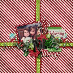 Digital Scrapbook Layout by Bethie | Merry Magic by Bella Gypsy