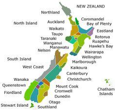 New Zealand Regional Map - New Zealand Tourism Guide - http://www.tourism.net.nz/#