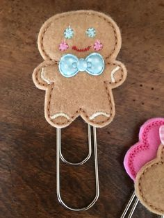 Gingerbread Man Felt Jumbo / Extra Large Clip
