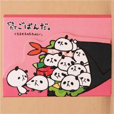 kawaii pink panda bear animal mini Note Pad Mind Wave 1