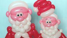 Как сделать голову Деда Мороза из шаров для моделирования. How to make a Santa Claus head of balloons. Any comments about subtitles are welcomed :) Designed ...