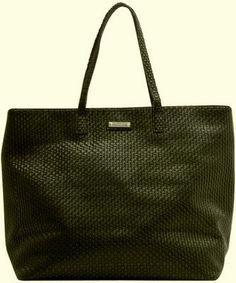 Mango Large Woven Shopper Handbag on Wootocracy Fashion Black, Black Handbags, Mango, Tote Bag, Black Purses, Manga, Totes, Black Bags, Tote Bags