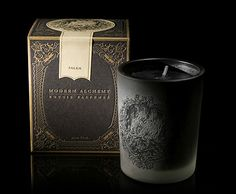 Beautiful classic and ornate design for Modern Alchemy's scented candles.
