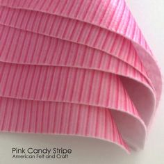 A Unique Craft Supply Shop featuring toy making supplies, Patterns, Kits, felt and tools Diy Garland, Candy Stripes, Pink Candy, Stripe Print, Felt Crafts, Craft Supplies, Gift Wrapping, Sweets, Sewing
