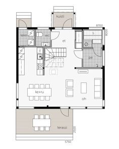 Glass House talo 143 / Kontio Glass House, Floor Plans, Sag Harbor, Alternative, Ideas, House Of Glass, Thoughts, Conservatory, Floor Plan Drawing