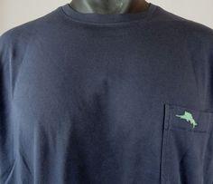 NWT Tommy Bahama  XL Mens T Shirt  New Bali Sky Blue Note 100% Pima Cotton SS  #TommyBahama #BasicTee