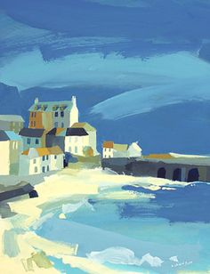 Richard Tuff - St Ives, in Cornwall Seaside Art, Beach Art, Seascape Paintings, Landscape Paintings, Abstract Landscape, Abstract Art, St Ives, Pretty Pictures, Painting Inspiration