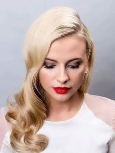 Hollywood Waves Glam Elegant Beautiful Stunning Inspiration Bridal Hair Stephanie Chapman Photographer