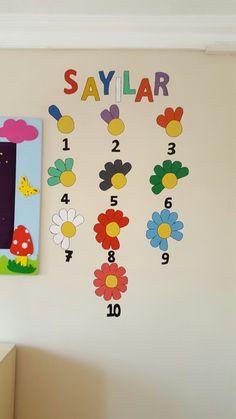 Papatya sayı kavramı #anaokulu #susleme #duvarboyama *merveteyn