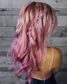 nice Оригинальные розовые волосы (50 фото) — Стильное окрашивание 2017