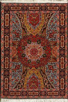 "Tabriz Persian Rug, Buy Handmade Tabriz Persian Rug 9' 10"" x 13' 5"", Authentic Persian Rug"