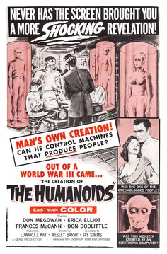 Movie Posters, Lobby Cards, Vintage Movie Memorabilia - to present @ Film Posters Classic Sci Fi Movies, Sci Fi Horror Movies, Cult Movies, Sf Movies, Horror Art, Drive In, Fantasy Movies, Sci Fi Fantasy, Fiction Movies