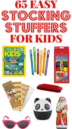 Check one more thing off your list with these simple and easy Stocking Stuffer Ideas for kids! So many stocking stuffers to choose from! Stocking Stuffers For Adults, Stocking Stuffers For Teens, Christmas Stocking Stuffers, Toddler Christmas Gifts, Kids Christmas, 50th Birthday Quotes, Friend Birthday, Birthday Gifts, Kids Stockings