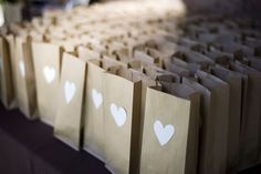 white hearts on lunch bags