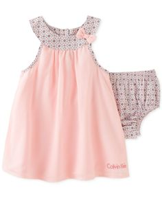 Calvin Klein Baby Girls' 2-Piece Pink Tunic & Diaper Cover Set