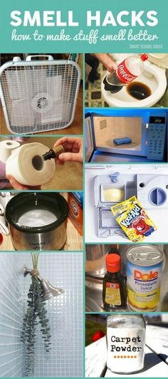 Smell Hacks! Got a stinky room in your house? Try one of these genius DIY ideas to banish those gross smells.