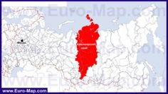 Красноярский край на карте России