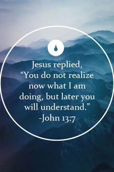 Holy Thursday 'At the moment you do not know what I am doing, but later you will understand' John 13:7