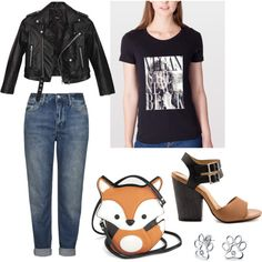How to wear the Vegan is the new black t-shirt by quinoa-apparel on Polyvore featuring Nasty Gal, Topshop, MIA and Bling Jewelry