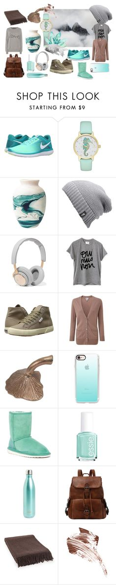 """Mints, Teals, Greys, Browns"" by vishkah ❤ liked on Polyvore featuring NIKE, Kate Spade, The North Face, B&O Play, Sincerely, Jules, Superga, Pure Collection, Threshold, Casetify and EMU Australia"