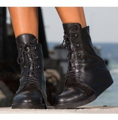 New Collection/Black Leather Boots/Woman Genuine Leather Boots 162226