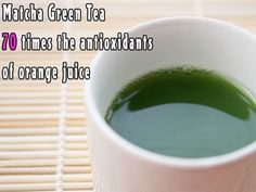 Matcha has approximately 70 times the antioxidants of orange juice and 9 times the beta-carotene of spinach. Matcha literally has more antioxidant power than blueberries. #matcha #green tea #red leaf tea #redleaftea