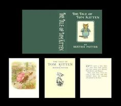 1-12-MINIATURE-BOOK-BEATRIX-POTTER-THE-TALE-OF-TOM-KITTEN