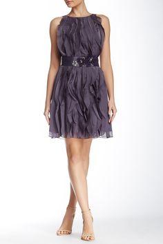 Adrianna Papell | Ruffle Chiffon Dress | Nordstrom Rack