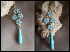 Beaded Jewelry Designs, Bead Jewellery, Handmade Jewelry, Seed Bead Earrings, Beaded Earrings, Beaded Bracelets, Diy Schmuck, Schmuck Design, Diy Jewelry Tutorials