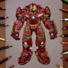 Insane hulkbuster drawing by Jerry Chacon