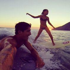 Gabriel Medina and his sister...